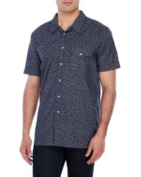 Haspel | Blue Martin Short Sleeve Floral Print Shirt for Men | Lyst