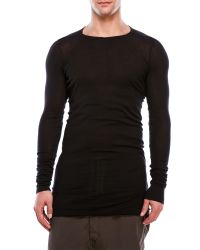 DRKSHDW by Rick Owens | Black Long Sleeve T-Shirt for Men | Lyst