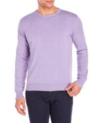 Altea | Purple Tipped Crew Sweater for Men | Lyst