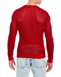 The Kooples - Red Open Stitch Sweater for Men - Lyst