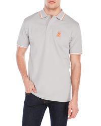 Psycho Bunny | Gray Neon Bunny Polo for Men | Lyst