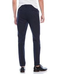 ATM - Blue Poplin Taper Cuffed Pants for Men - Lyst