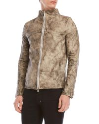 Incarnation - Gray Leather Jacket for Men - Lyst