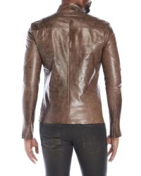 Incarnation - Brown Asymmetrical Leather Jacket for Men - Lyst