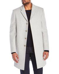 Calvin Klein - Gray New Ferndale Short Overcoat for Men - Lyst