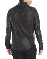 Incarnation | Black Leather Shirt for Men | Lyst