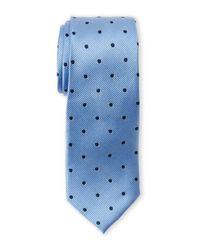 Pierre Cardin | Blue Silk Polka Dot Slim Tie for Men | Lyst