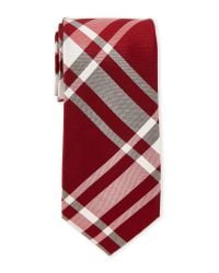 Cole Haan | Red James Plaid Silk Tie for Men | Lyst