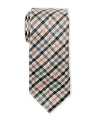 Ike Behar | Gray Plaid Wool Tie for Men | Lyst