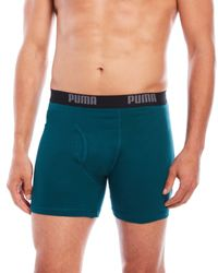 PUMA | Blue 3-Pack Boxer Briefs for Men | Lyst