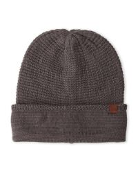 Timberland | Gray Charcoal Slouchy Knit Beanie for Men | Lyst