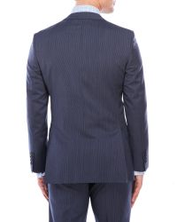 DKNY - Blue Fine Stripe Wool Suit for Men - Lyst