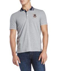 Gant - Gray Pique Rugger Polo for Men - Lyst