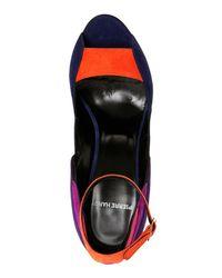 Pierre Hardy   Blue Roxy Color Block Ankle Strap Pumps   Lyst
