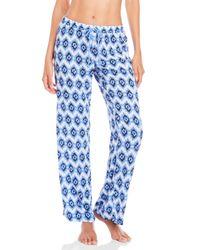 Pj Salvage - Blue Drawstring Pajama Pants - Lyst