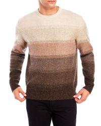 Weatherproof | Natural Shetland Wool Stripe Sweater for Men | Lyst