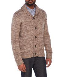 Weatherproof   Brown Faux Fur Lined Cardigan for Men   Lyst