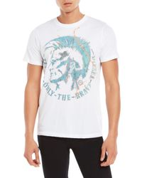 DIESEL - White T-Sha Graphic T-Shirt for Men - Lyst