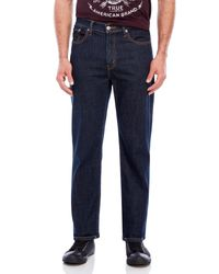 Levi's | Blue Enzyme Stone 514 Straight Fit Jeans for Men | Lyst