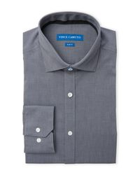 Vince Camuto - Gray Slim Fit Dress Shirt for Men - Lyst