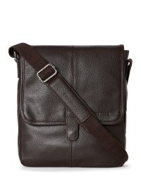 Cole Haan   Brown Pebbled Leather Reporter Bag for Men   Lyst