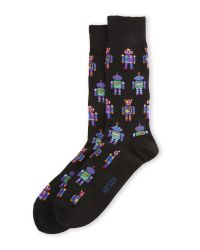 Hot Sox | Black Dancing Machine Crew Socks for Men | Lyst