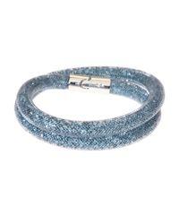 Swarovski | Blue Stardust Double Bracelet | Lyst