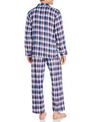 Izod Blue Flannel Pj Set for men