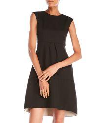 Les Copains | Black Pleated A-Line Dress | Lyst