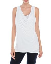Bench   White Duple Layered Tank Top   Lyst