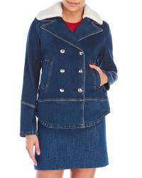 Sonia by Sonia Rykiel | Blue Double-Breasted Denim Jacket | Lyst