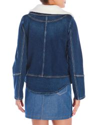 Sonia by Sonia Rykiel - Blue Double-Breasted Denim Jacket - Lyst