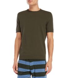 Roberto Collina - Green Knit Tee for Men - Lyst