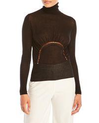 Sharon Wauchob - Black Knit Cutout Turtleneck - Lyst