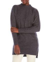 DKNY | Gray Long Mixed Knit Sweater | Lyst