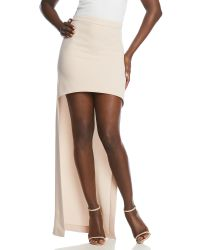 Halston | Natural Ultra High-Low Skirt | Lyst