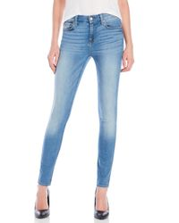 7 For All Mankind | Blue The Skinny Jeans | Lyst