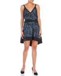 Proenza Schouler | Blue Silk-Blend Belted Sun Dress | Lyst