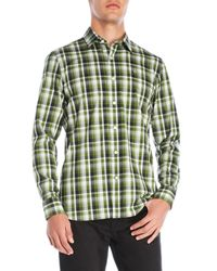 Victorinox - Green Plaid Sport Shirt for Men - Lyst
