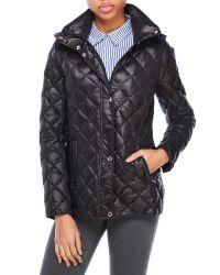 Lauren by Ralph Lauren | Black Quilted Hooded Down Jacket | Lyst