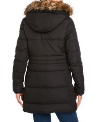 Lauren by Ralph Lauren - Black Cold Weather Hooded Down Coat - Lyst