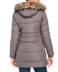 Lauren by Ralph Lauren - Gray Cold Weather Hooded Down Coat - Lyst