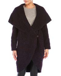 Zac Zac Posen | Black Multicolor Camilla Wrap Coat | Lyst