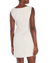 Connected Apparel - Multicolor Petite Sheath Dress With Mock Tiered Skirt - Lyst