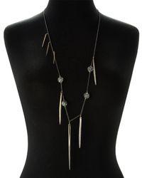 Alexis Bittar - Black Ruthenium-tone Pave Sphere & Spear Necklace - Lyst
