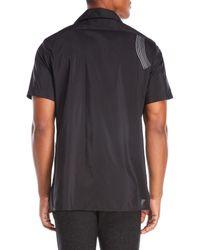 Lanvin - Black Wave Embroidered Shirt for Men - Lyst