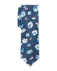 Original Penguin - Blue Lennart Floral Slim Tie for Men - Lyst