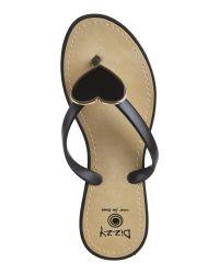 Dizzy - Black Heart Thong Sandals - Lyst