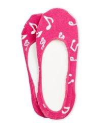 kate spade new york | Pink Music Notes Liner Socks | Lyst