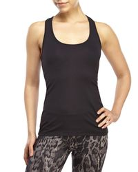 90 Degree By Reflex - Black Tone On Tone Stripe Racerback Tank - Lyst